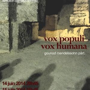 """Concert de la Chorale Prélude """"Vox Populi Vox Humana"""""""