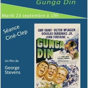 Ciné-CLEP : GUNGA DIN, le mardi 23 septembre 2014