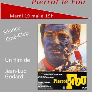 "Ciné-CLEP : ""PIERROT LE FOU"" mardi 19 mai à 19h"