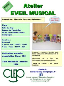 Flyer Eveil musical 2018